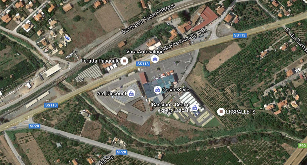 centro commerciale Lascari Cefalu